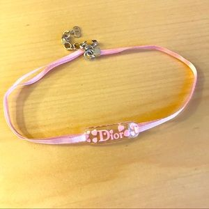 AUTHENTIC Christian Dior Baby Pink Choker Necklace